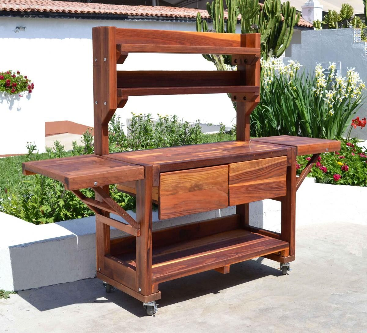 Eli\'s Potting Bench - Storage Benches   Forever Redwood ...