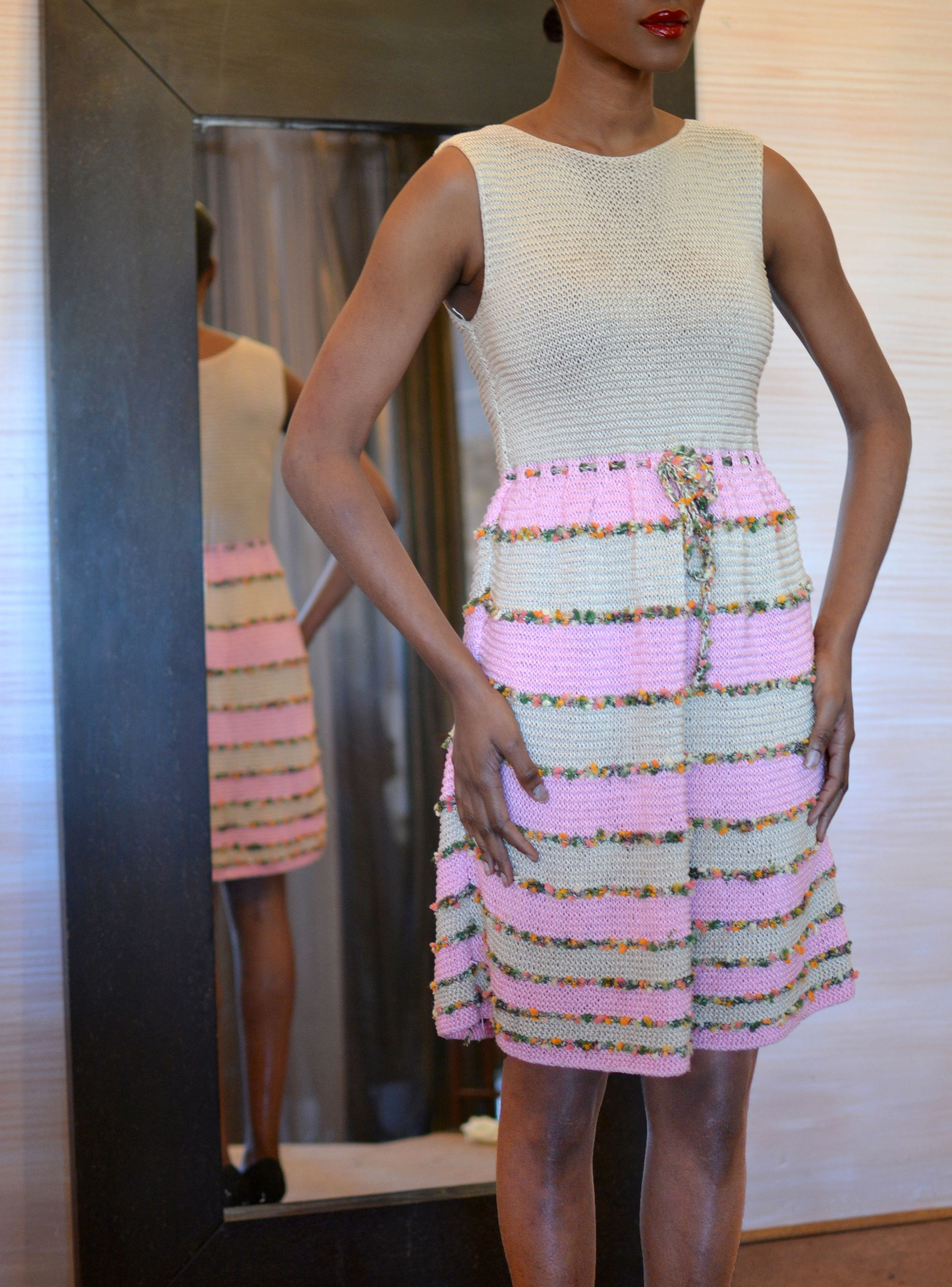 look 9 beigecarnationgarden knitted sleeveless dress