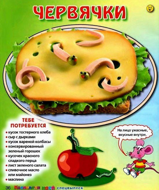 Рецепты бутербродов для детей