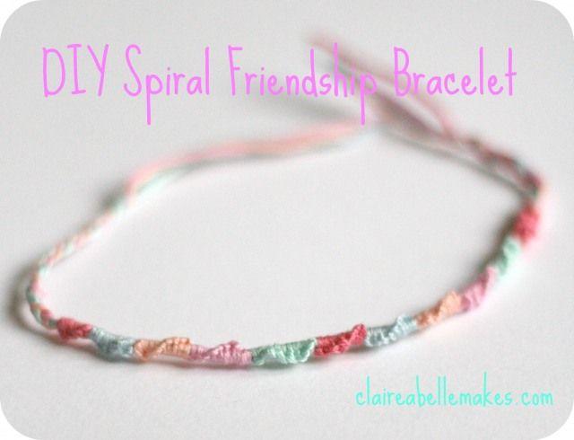 DIY Spiral Friendship Bracelet -  86b8b1f6c00