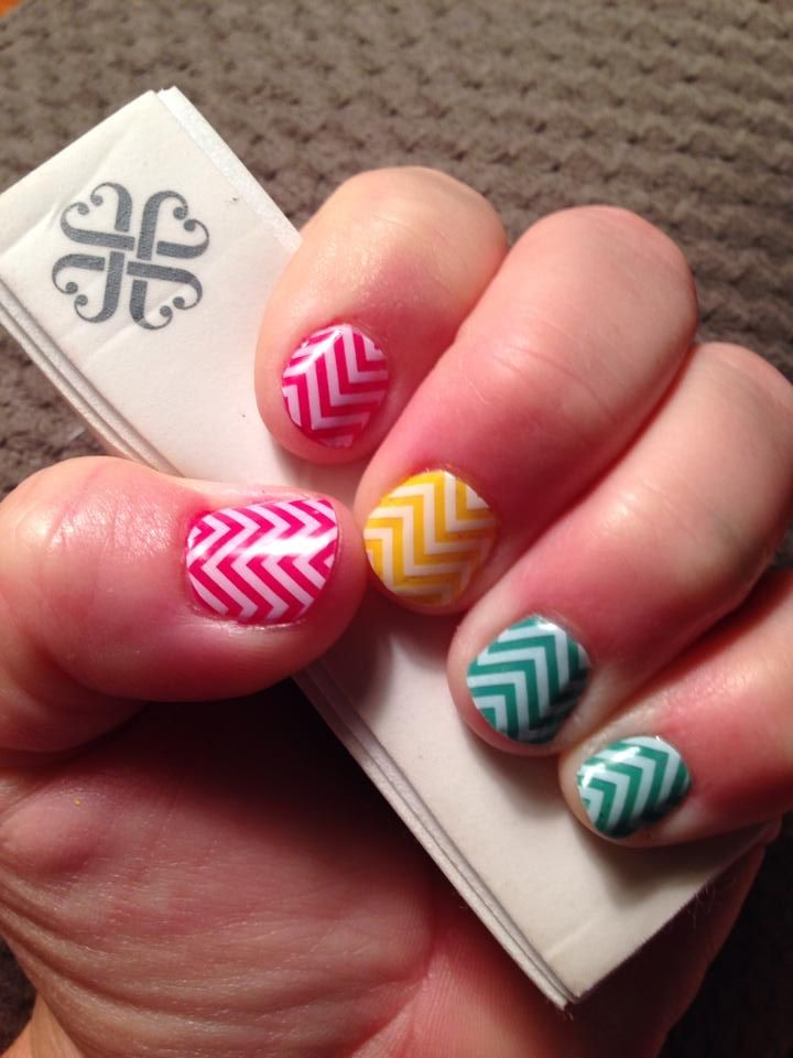 Lovely clear and white chevron over Jamberry lacquer! Non-toxic ...