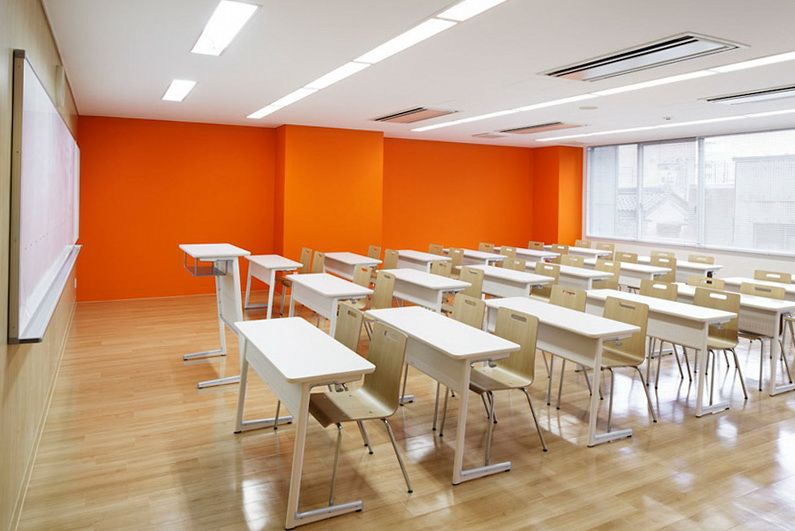 Japanese Classroom Design ~ Colourful school in japan okul pinterest