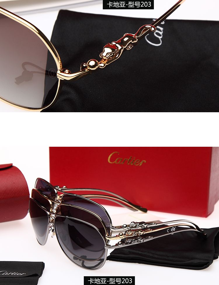 8379ac24a24 Women s panthere decor metal sunglasses - De Cartier eyewear ...