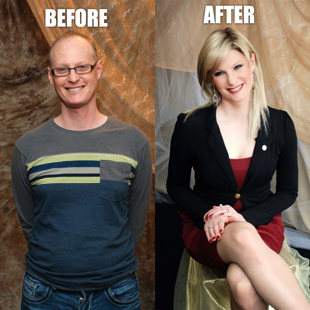 before after tranny