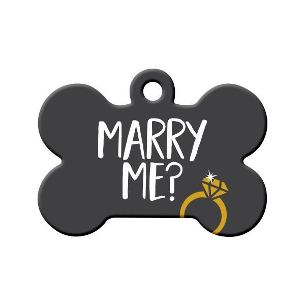 Will You Marry Me Dog Tag Grey Are You Planning Your Big