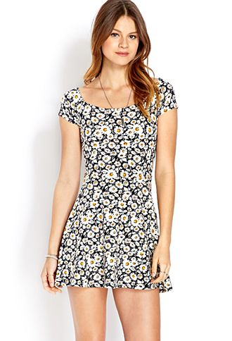 ec5172fbfe Field of Daisies Skater Dress
