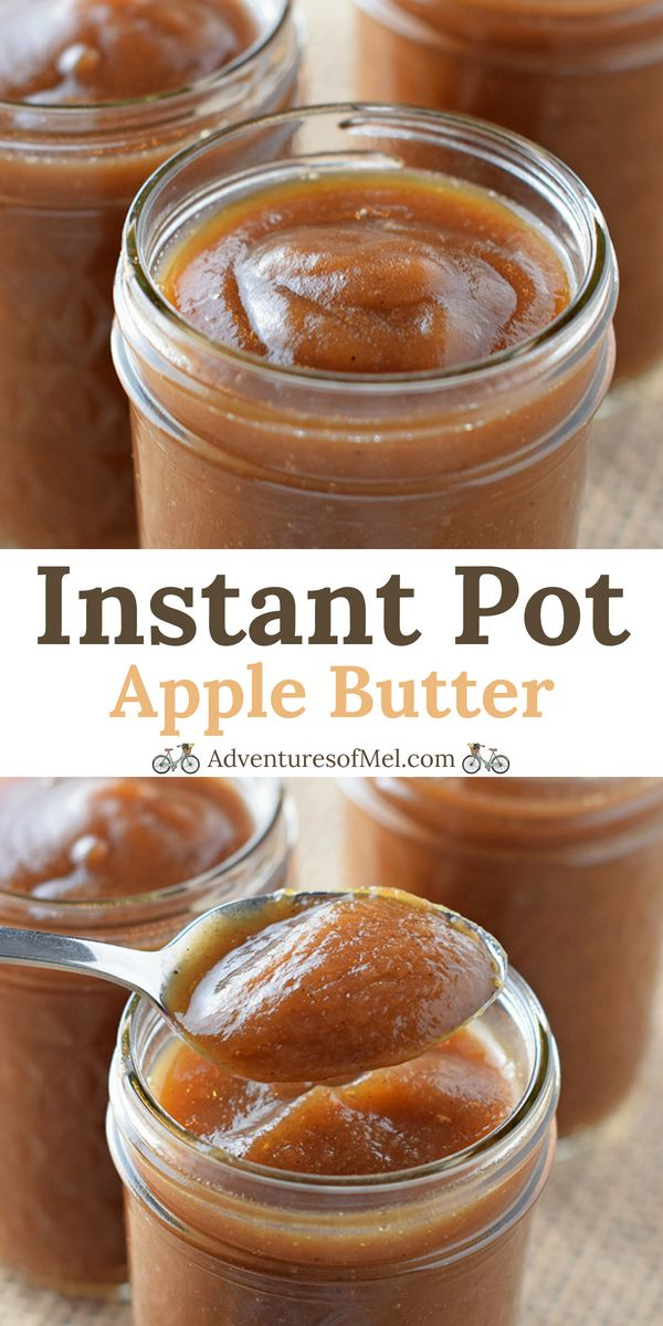 Instant Pot Apple Butter, filled with the delicious flavors of cinnamon spice goodness. Such a quick and easy recipe, I will never buy store bought again. #instantpotrecipes