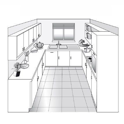 Plan de cuisine les diff rents types cuisine plan cuisine cuisine en u et relooking cuisine - Plan petite cuisine ouverte ...