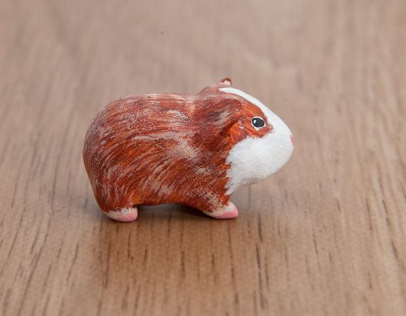 This little and very cute guinea pig totem belongs to my Natural collection  This animal sculpture is completely handmade with love from a
