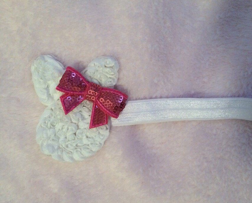 easter bunny headband by SSBlooms on Etsy https://www.etsy.com/listing/224685935/easter-bunny-headband