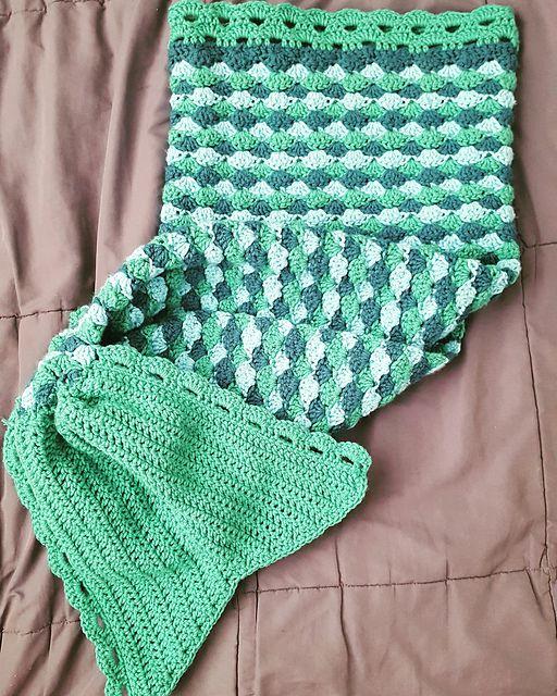 Mermaid Tail Afghan - Free Crochet Pattern #crocheting | 1001 ...