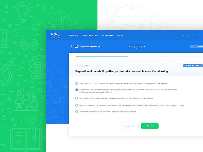 Med Quiz In 2020 Quiz Quiz Design Web Design
