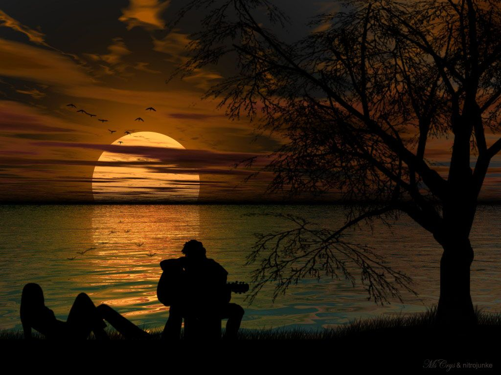 Amazing Romantic Scene Walls Town Sunset Wallpaper Beautiful Sunset Sunset