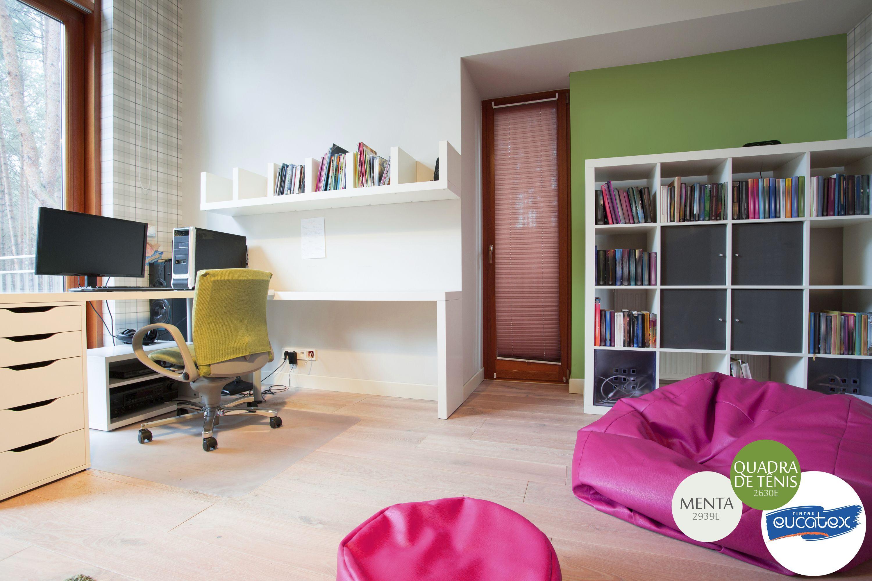 Inspiração de decoração para home office nomes da coresquadra de tênis e menta tintas eucatex