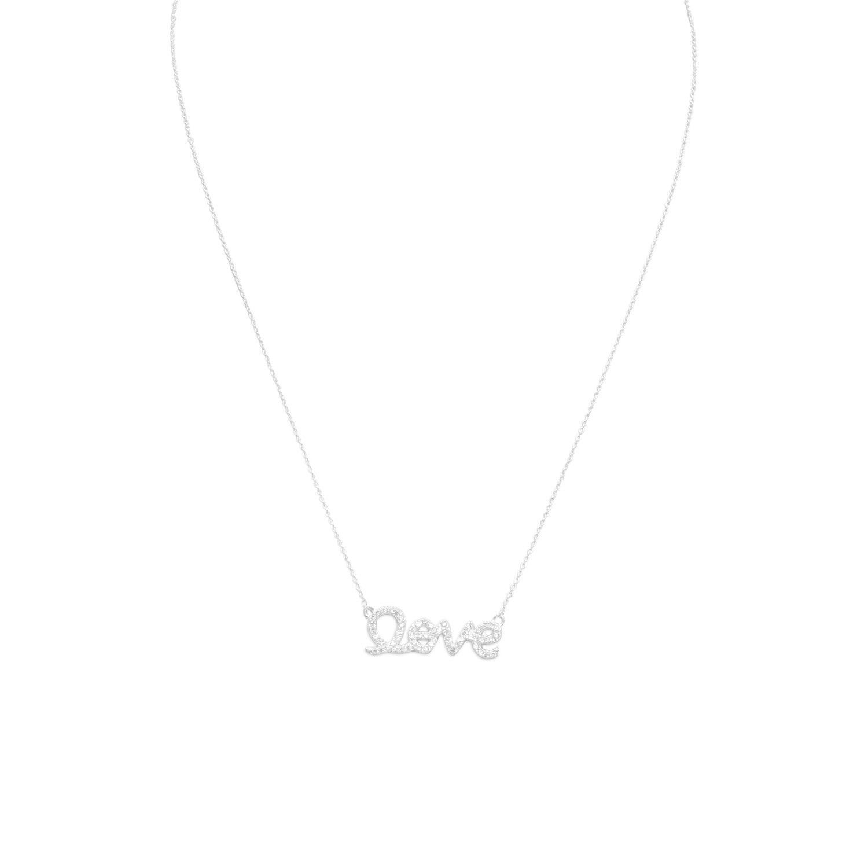 """16"""" CZ """"love"""" Necklace"""