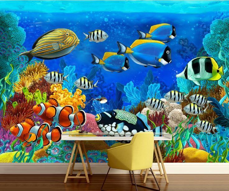 Underwater wallpaper underwater wall mural sea wall mural