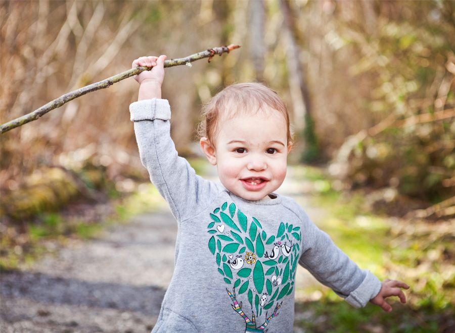 Toddlers and sticks. :)