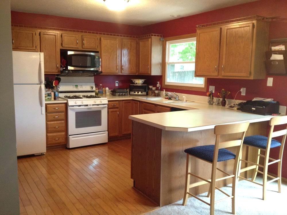 Kitchen Paint Colors With Dark Cabinets Stylish And Peaceful Kitchen Colors With Dark Cabinets Mo Kitchen Color Dark Cabinets Honey Oak Cabinets Kitchen Design