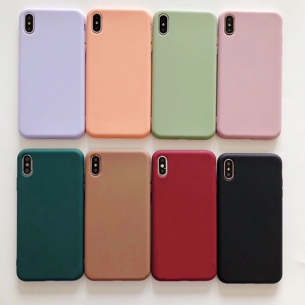 Solid Color Silicone Phone Case For iPhone 6 6s 7 8 Plus X