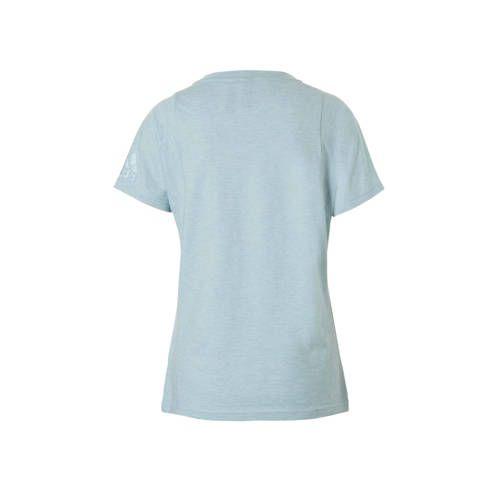 adidas performance performance sport T-shirt mintgroen ...