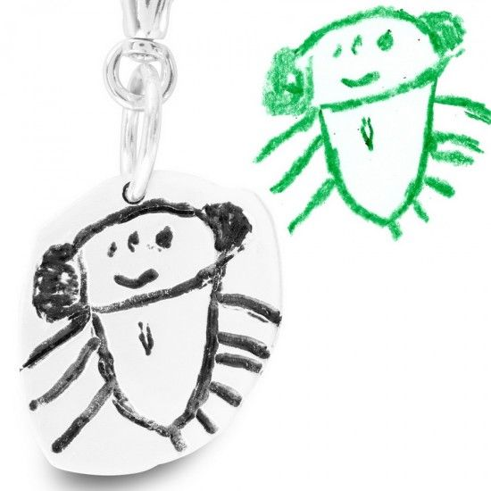 This is a great idea. They take your child's artwork and make jewelry for you. Little kid drawings are one of my favorite things!  www.etsy.com/...