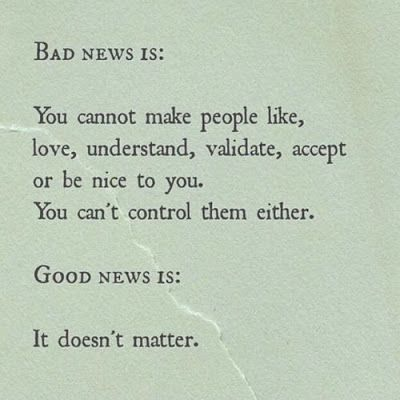 Good News / Bad News | Yep | Quotes, Quotable quotes
