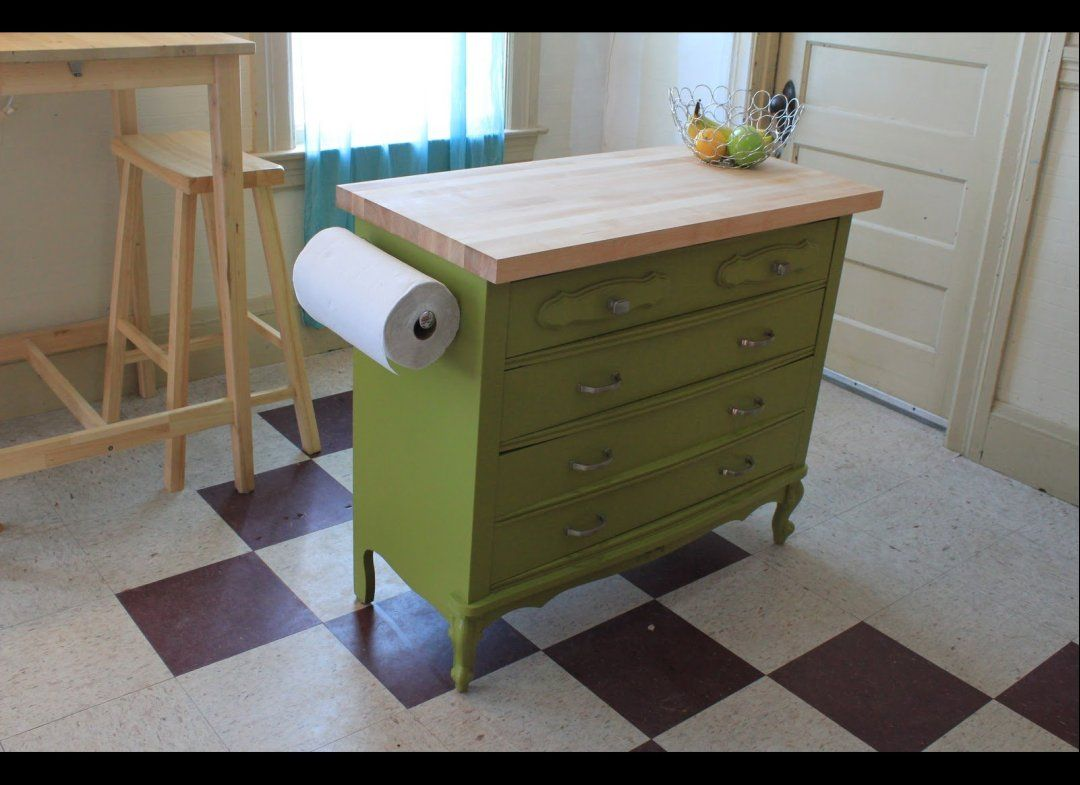 Dresser turned Kitchen Island oooh Home Decor Pinterest