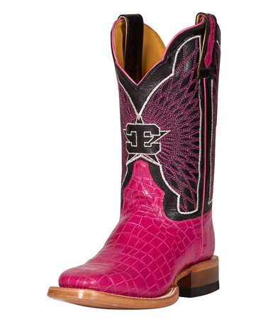 Another great find on #zulily! Pink Fusion Leather Cowboy Boot - Women #zulilyfinds