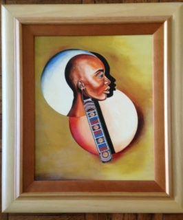 The Earing, Kitamirike $875 | Original Paintings and Prints from