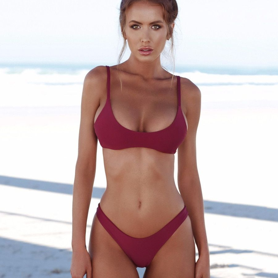 9c80e2fb984 $29.31 - Awesome 2018 Sexy Micro Bikini Plus Size Swimwear Women Swimsuit  Female Beach Wear Push