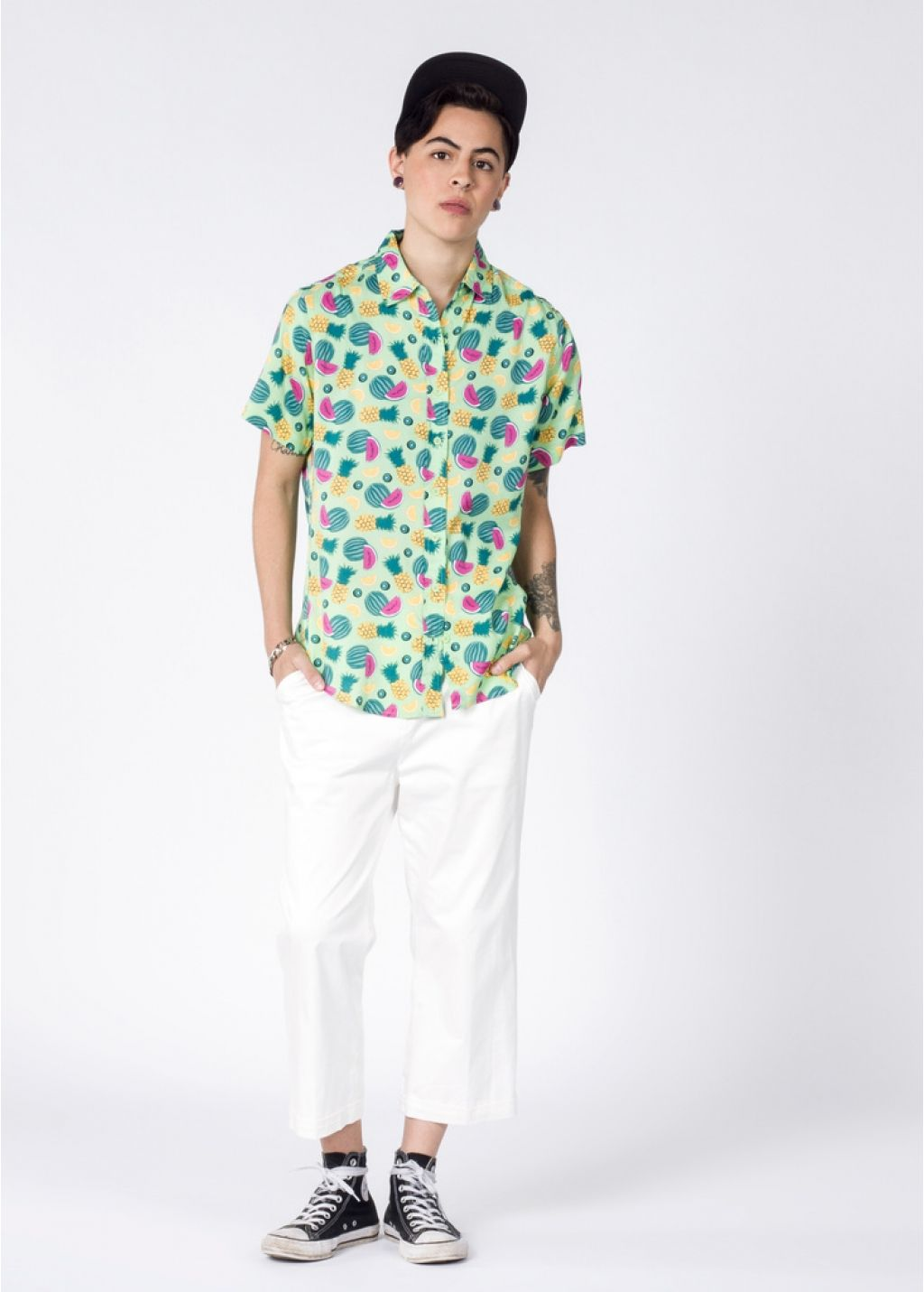 fc643cf9ed2b The Ultimate WF Fruit Button Up Tomboy Style, Tomboy Fashion, Short Sleeve  Button Up
