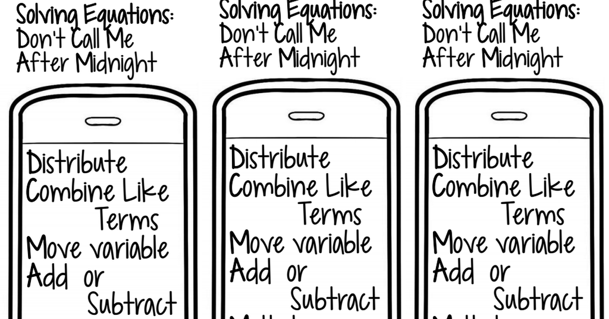dont call me after midnight math dyal pdf | Math | Solving equations