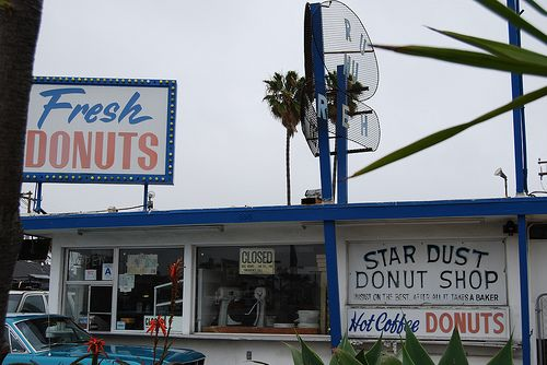 Star Dust Donut Shop. Imperial Beach, CA. Amazing donuts, but I never know when he opens...