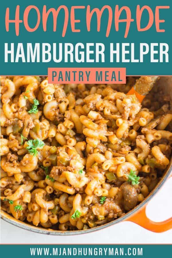 Homemade Hamburger Helper Recipe In 2020 Homemade Hamburgers Homemade Hamburger Helper Hamburger Helper