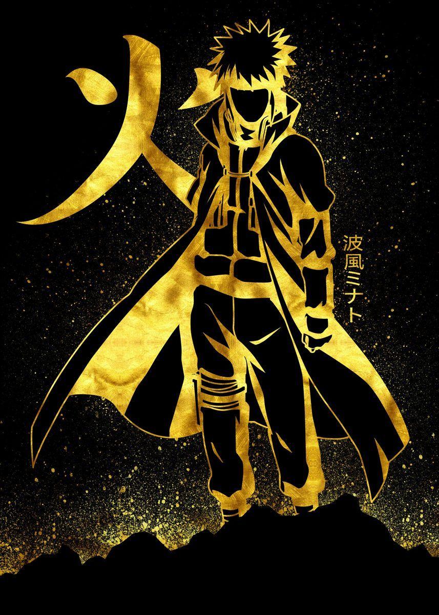 Golden Minato Poster By Eternal Art Displate Naruto And Sasuke Wallpaper Best Naruto Wallpapers Anime Wallpaper Live