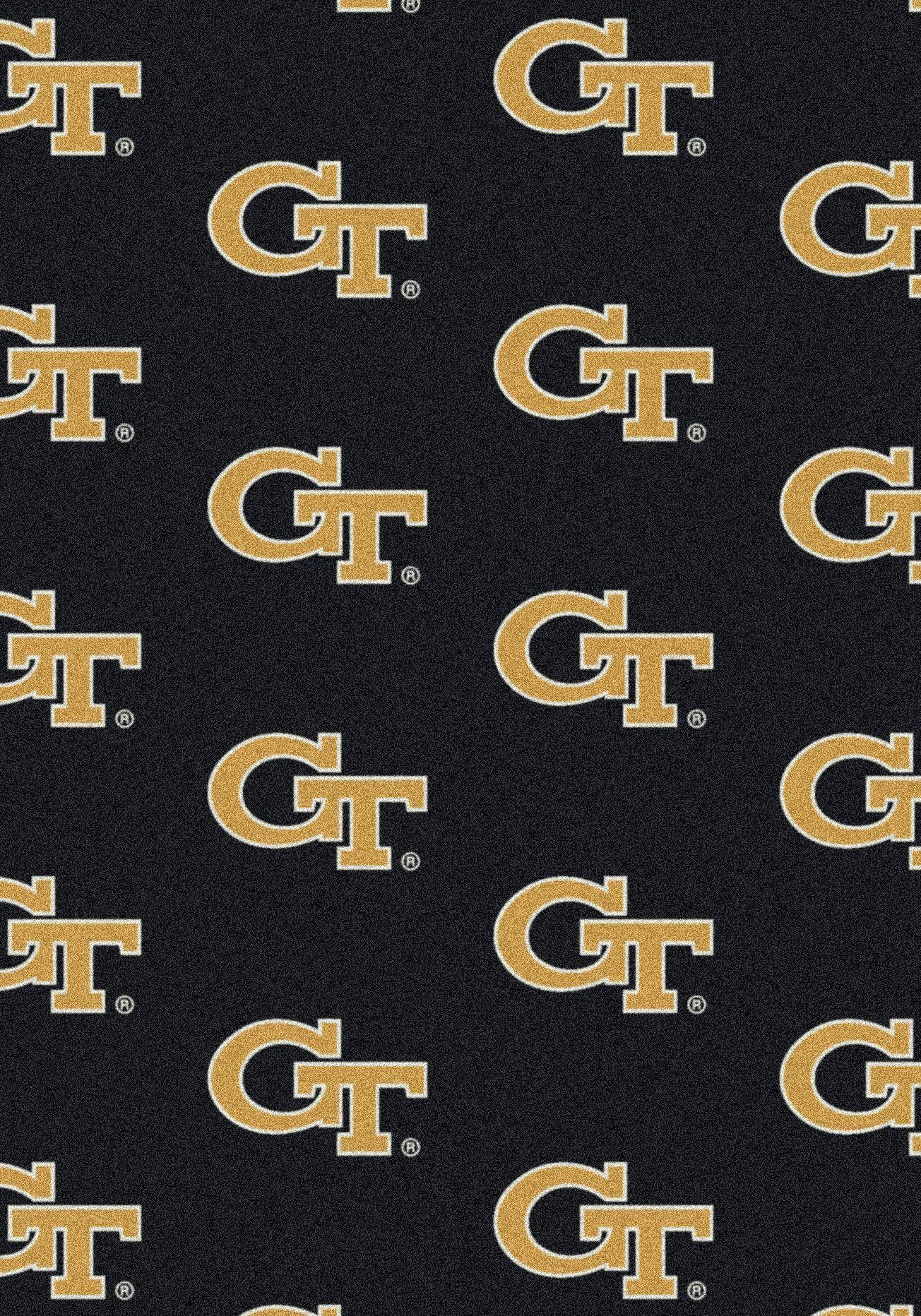 College Repeating NCAA Georgia Tech Novelty Rug