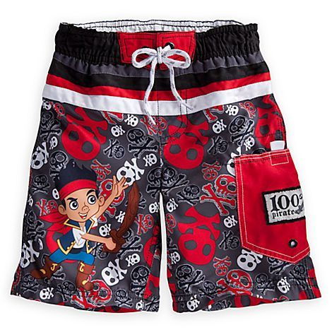 361f9bd87c Jake and the Never Land Pirates Swim Trunks for Boys | Swimwear | Disney  (Use my disney cashback credits) This suit would match all 3 of his swim  shirts ...