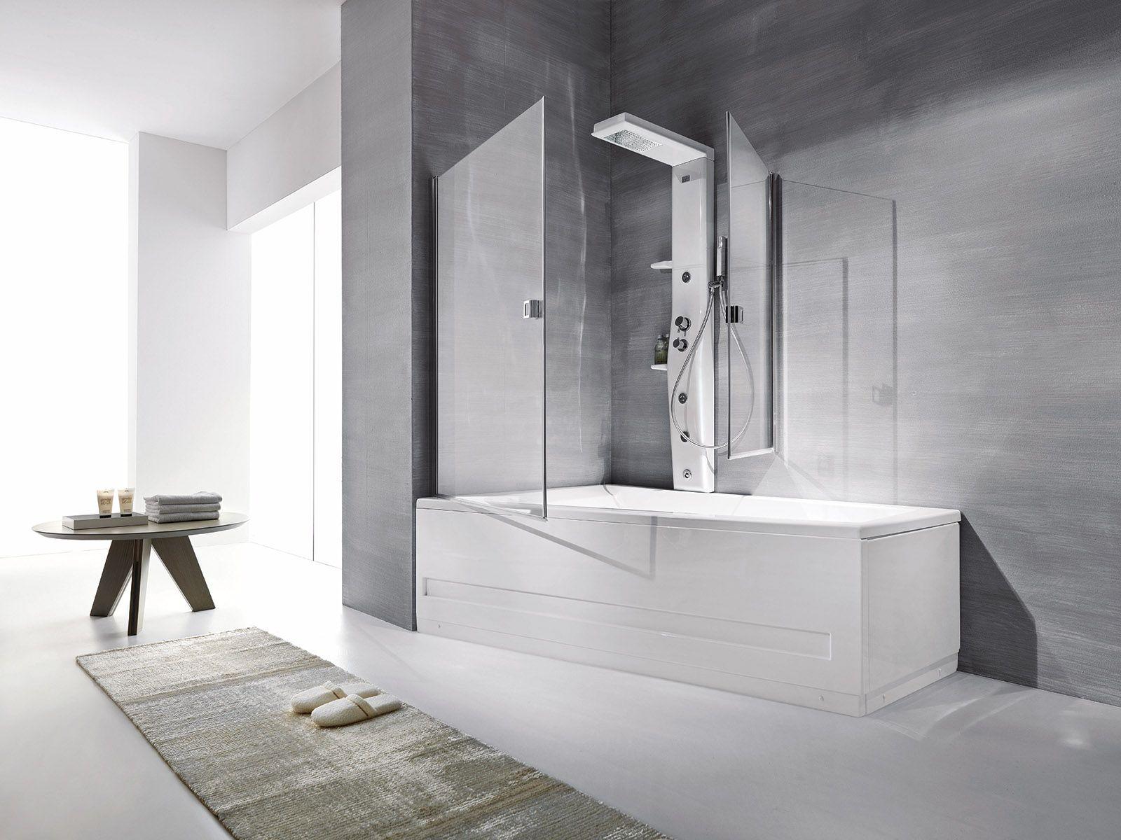 La doccia nella vasca aggiungendo un pannello (con