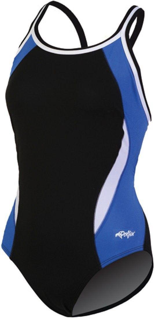 Color Block DBX Back - Black/Royal - 32 - C011EVK8UDV - Sports & Fitness Clothing, Women, Swimwear,...