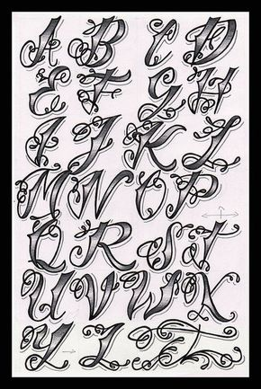 Cholo Tattoo Alphabet