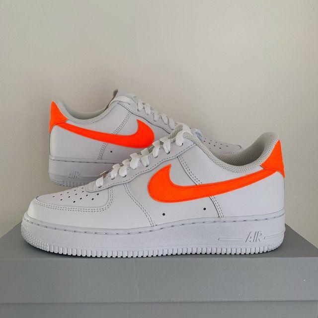 Neon orange swoosh Air force 1 | THE