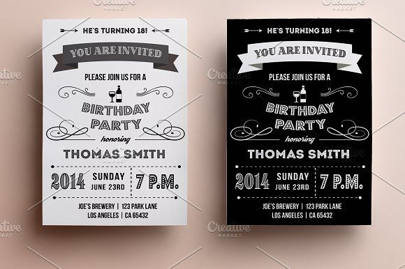Retro Birthday Invitation Retro Birthday Party Invite Template 40th Birthday Invitations