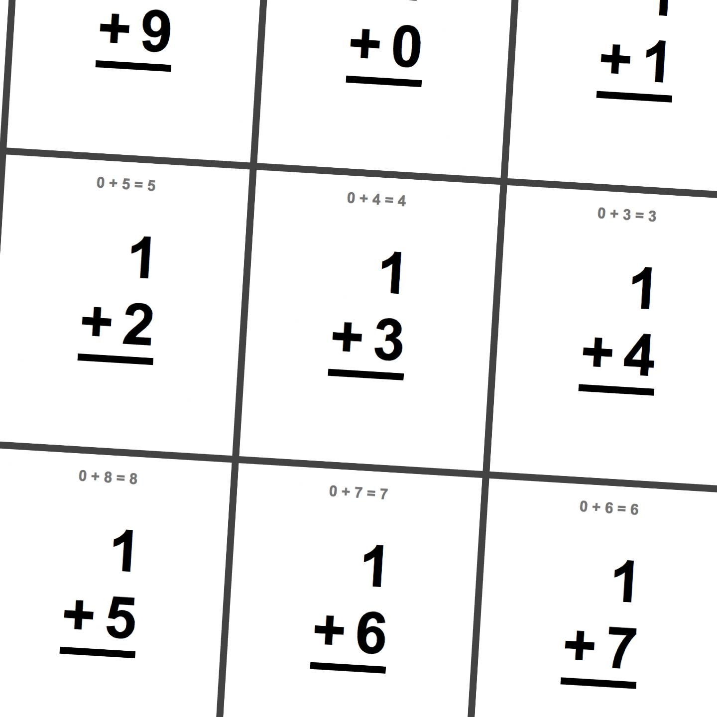 Free Printable Math Flashcards