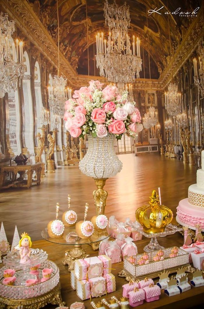 Pink + Gold Princess Birthday Party | Daddy's Little ...