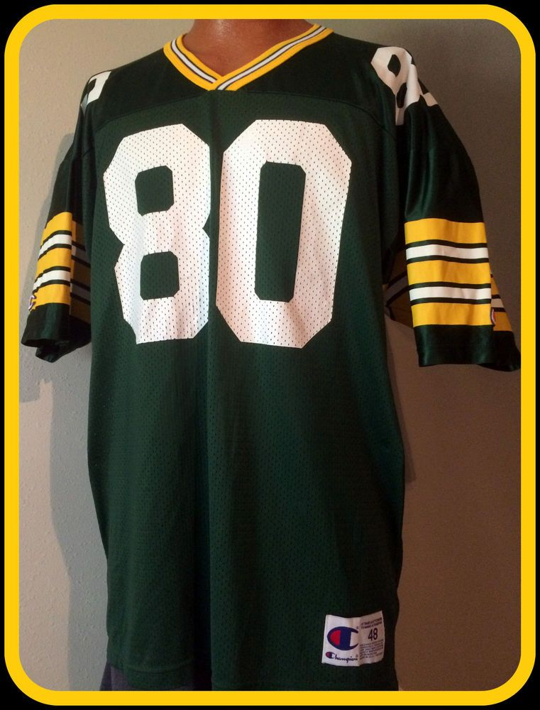 Wholesale VINTAGE DERRICK MAYES GREEN BAY PACKERS REPLICA CHAMPION JERSEY  for cheap