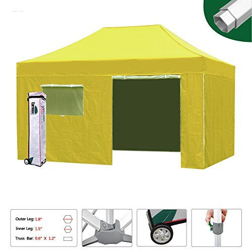 new style e9771 5b7ce Eurmax 10x15 Professional Ez Pop up Canopy Tent Full ...