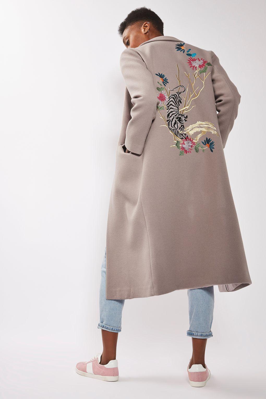 Tokyo Embroidered Coat - Jackets & Coats - Clothing