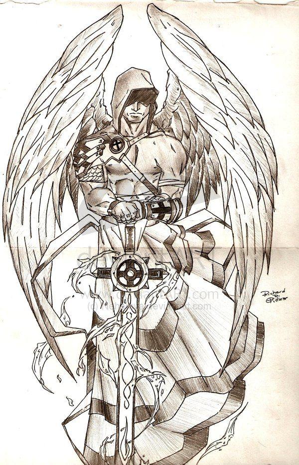 картинки архангелов для тату вроде