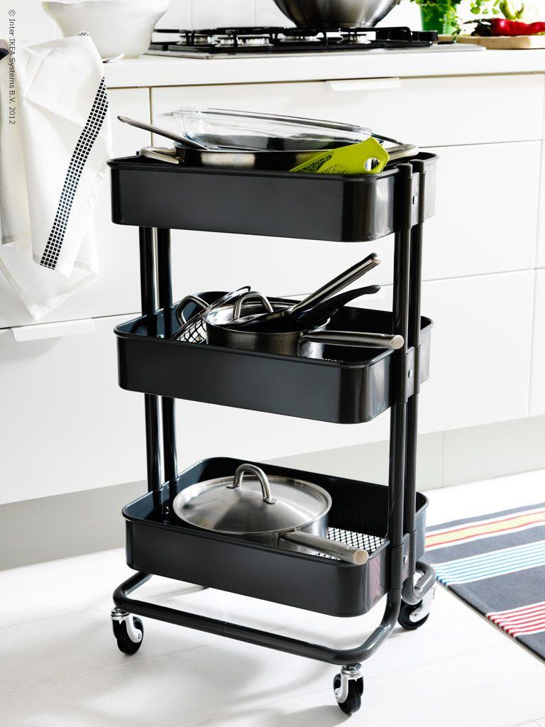 Ikeaのキッチンワゴン活用アイディア 自然素材の家に住みたい キッチンカート キッチンワゴン Raskog カート