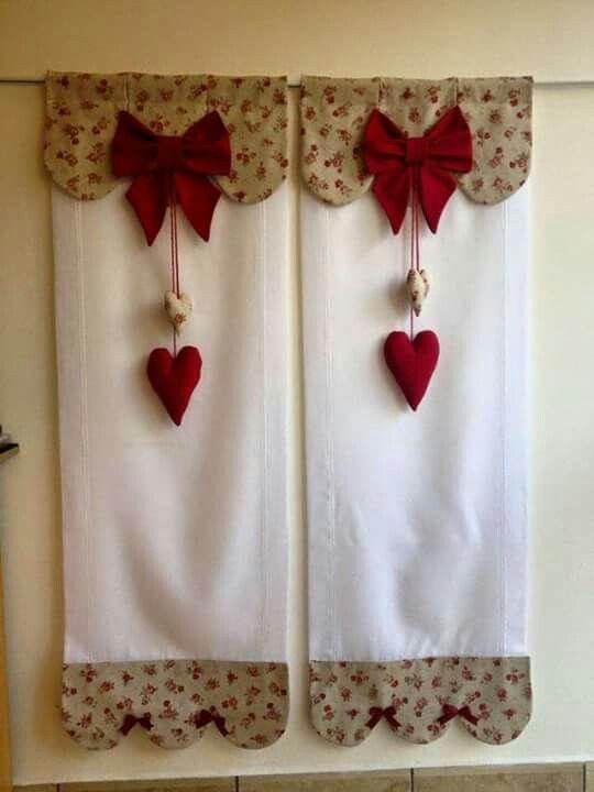 Cortinas navidad Pinterest Diy curtains, Country chic and
